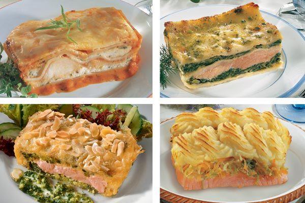Edelfischkompositionen für den Ofen