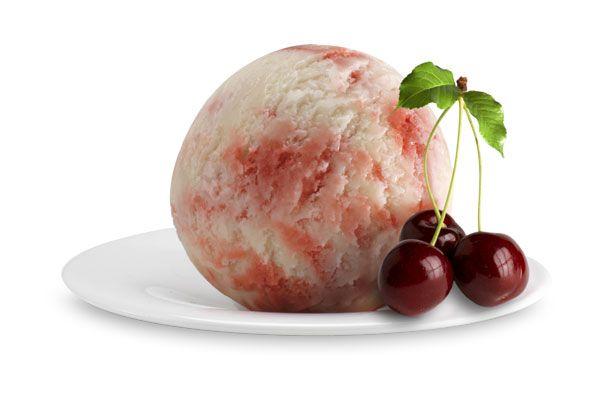 Panna Amarena Kirsche, Italienisches Eis
