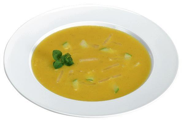 Sellerie-Apfel-Suppe mit Ingwer und Curry