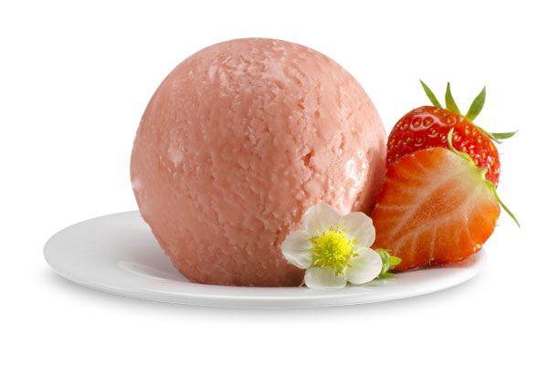 Erdbeer-Sorbet, Italienisches Eis
