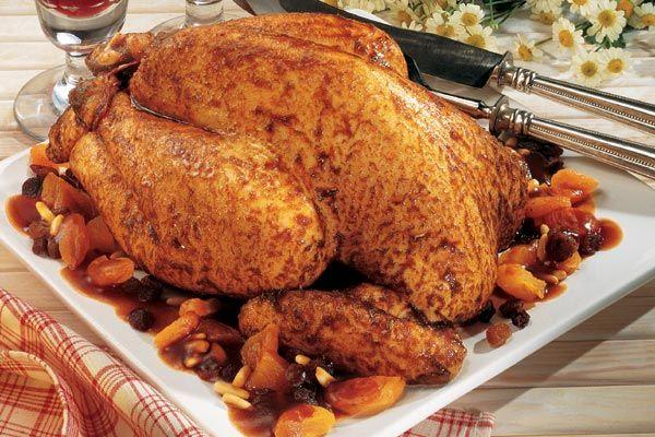 Bresse Huhn gefüllt