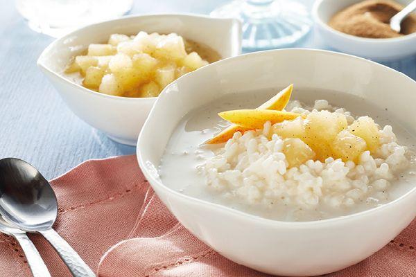 Milchreis mit Apfel-Birnen Kompott