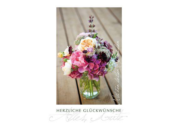 Grußkarte Blumenstrauß