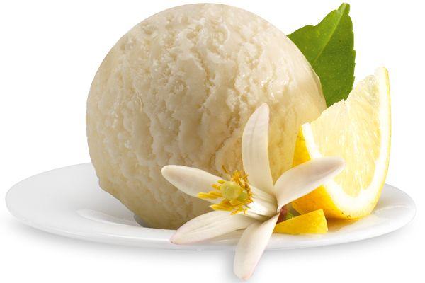 Zitronen-Basilikum-Sorbet, Italienisches Eis
