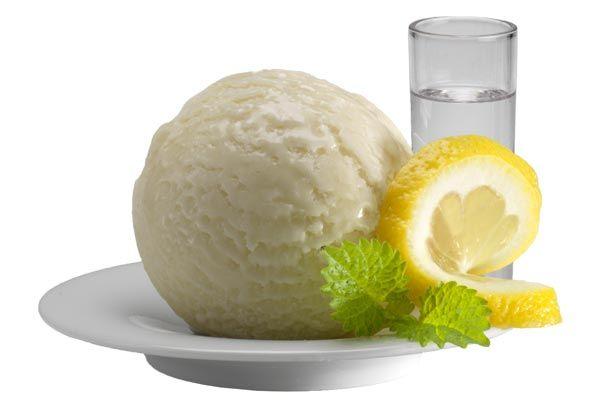 Wodka-Zitronen-Sorbet, Italienisches Eis