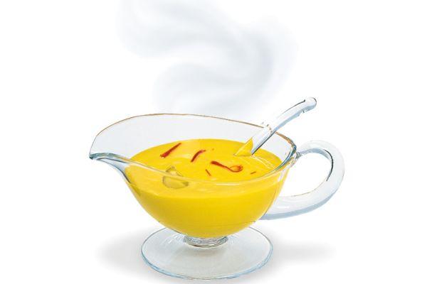 Safran-Sauce, warm