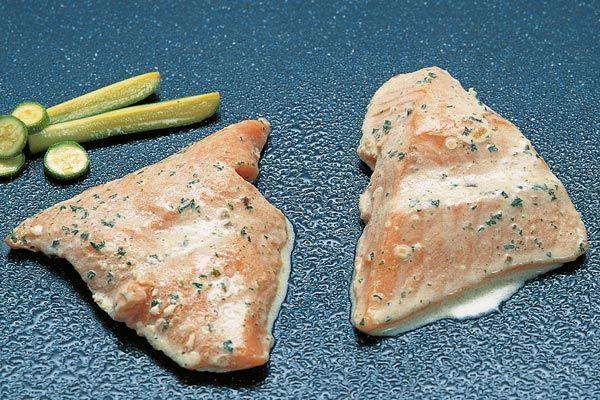 Lachs-Filet-Stücke, gewürzt