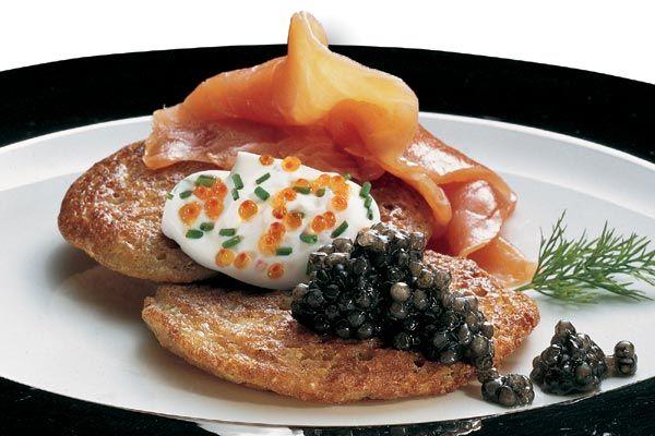 Blinis mit Kaviar-Sauce