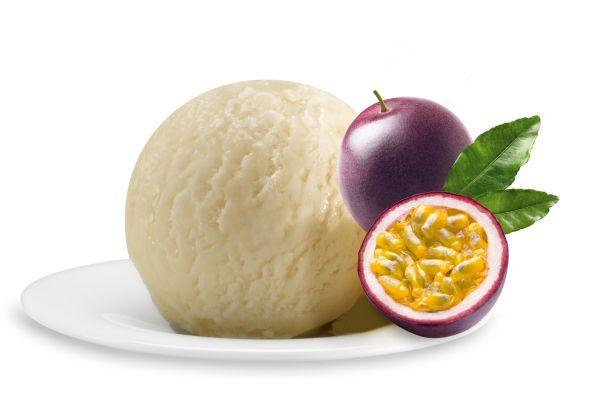 Joghurteis mit Passionsfrucht, Italienisches Eis