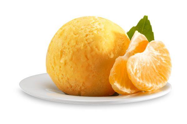 Mandarinen-Sorbet, Italienisches Eis