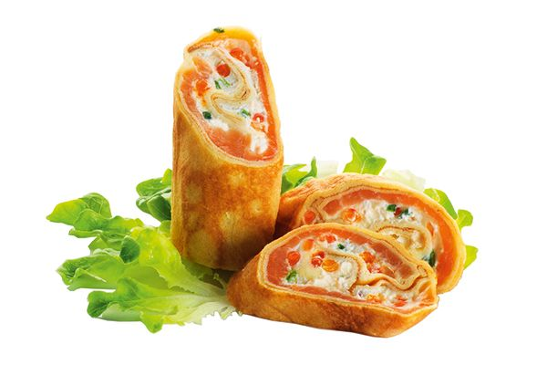 Lachs-Crepes
