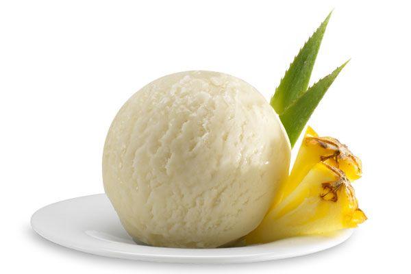 Ananas-Sorbet, Italienisches Eis