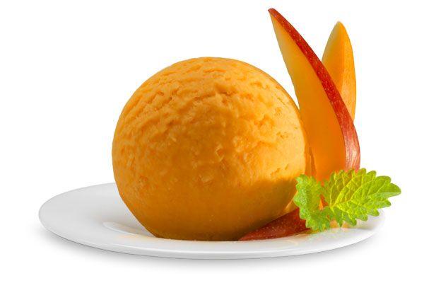 Mango-Sorbet, Italienisches Eis