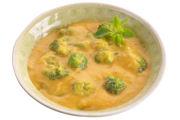 Brokkoli in Süßkartoffel-Creme